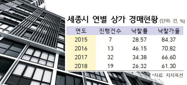 [집코노미] 세종시 상가 3분의 1토막 '추락'…경매 낙찰 전무
