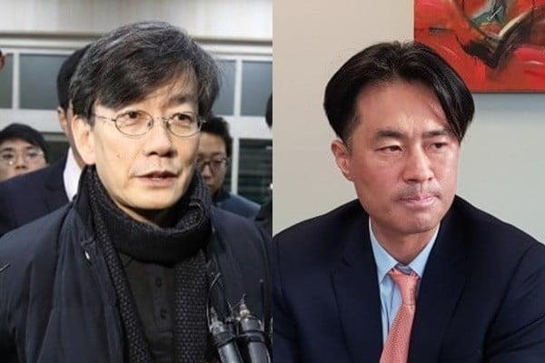 손석희 JTBC 대표이사, 김웅 프리랜서 기자/사진=연합뉴스