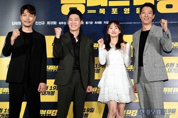 영화 '롱리브더킹' 제작보고회, 최귀화, 진선규, 원진아, 김래원/사진=최혁 기자