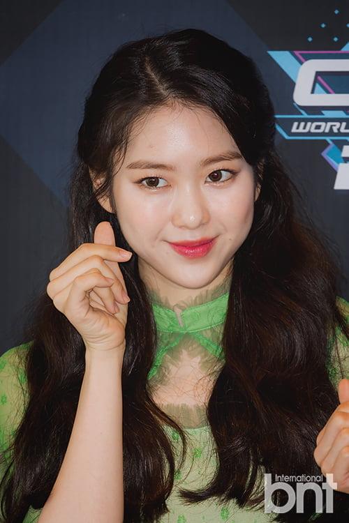 [bnt포토] 오마이걸 지호 '김해김씨 김지호는 사랑입니다'