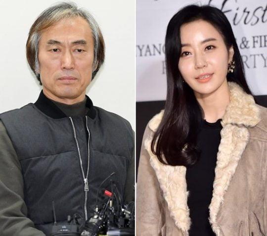 배우 조덕제(왼쪽)와 반민정. / 텐아시아DB