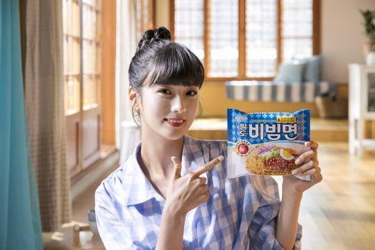 그룹 에이핑크 윤보미 / 사진제공=팔도 비빔면