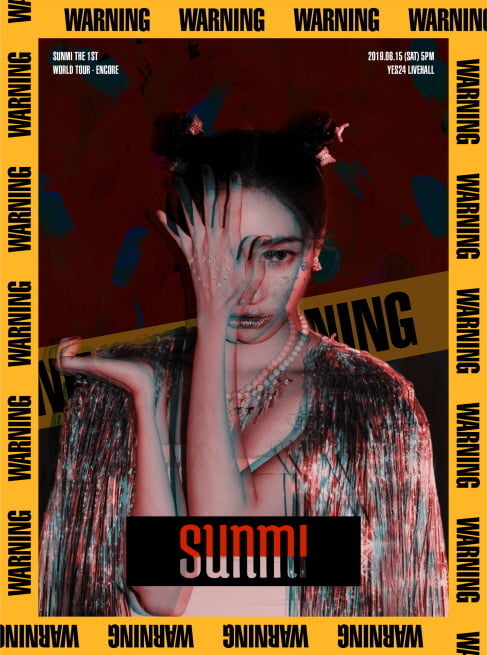 '2019 선미 THE 1ST WORLD TOUR [WARNING]' 서울 앙코르 콘서트 포스터/사진=메이크어스 엔터테인먼트 제공