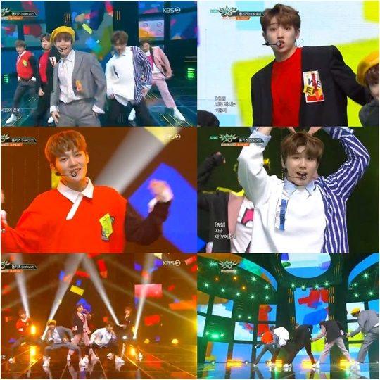 3일 방영된 KBS2 음악 프로 '뮤직뱅크' 방송화면.