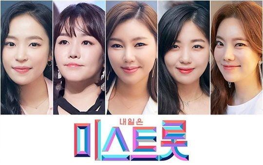 TV조선 음악 예능 '미스트롯'의 결승 참가자 5人. 사진제공=포켓돌스튜디오