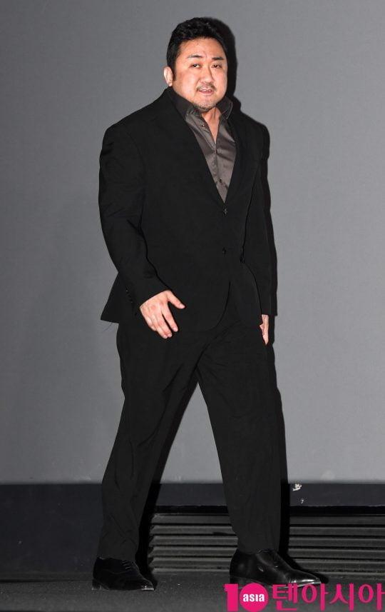 배우 마동석이 7일 오후 서울 한강대로 CGV 용산 아이파크몰에서 열린 영화 '악인전' 언론시사회에 참석했다. /조준원 기자 wizard333@