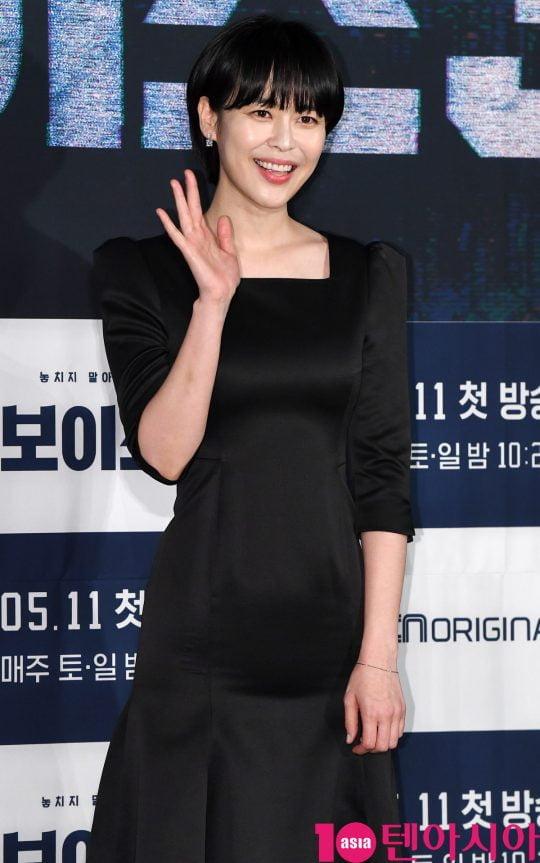 이하나가 9일 오후 서울 영등포동 CGV영등포에서 열린 OCN 토일 오리지널 '보이스3' 제작발표회에 참석했다. /조준원 기자 wizard333@