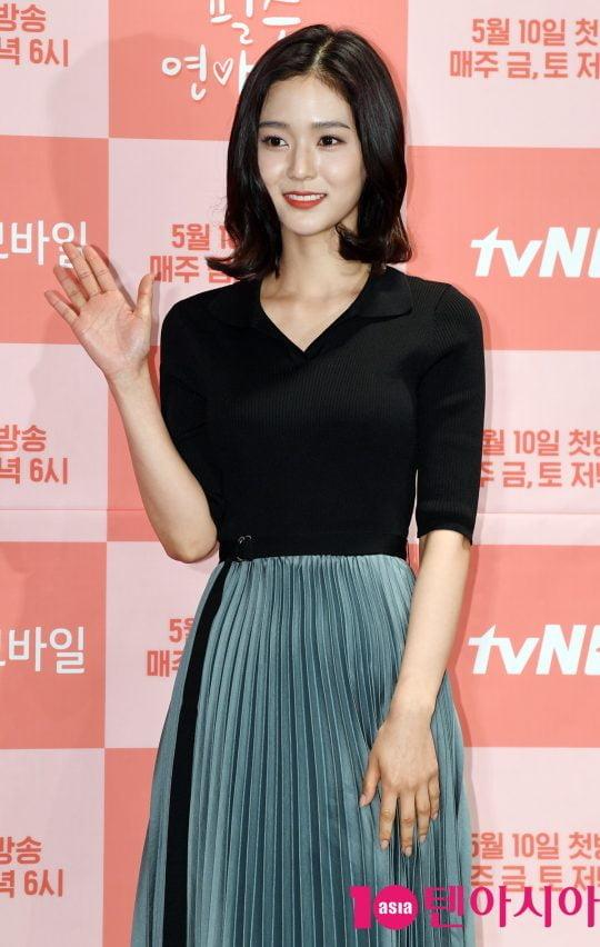 오세영이 10일 오후 서울 여의도 켄싱턴호텔에서 열린 tvN D의 새 웹드라마 '필수연애교양' 제작발표회에 참석하고 있다.