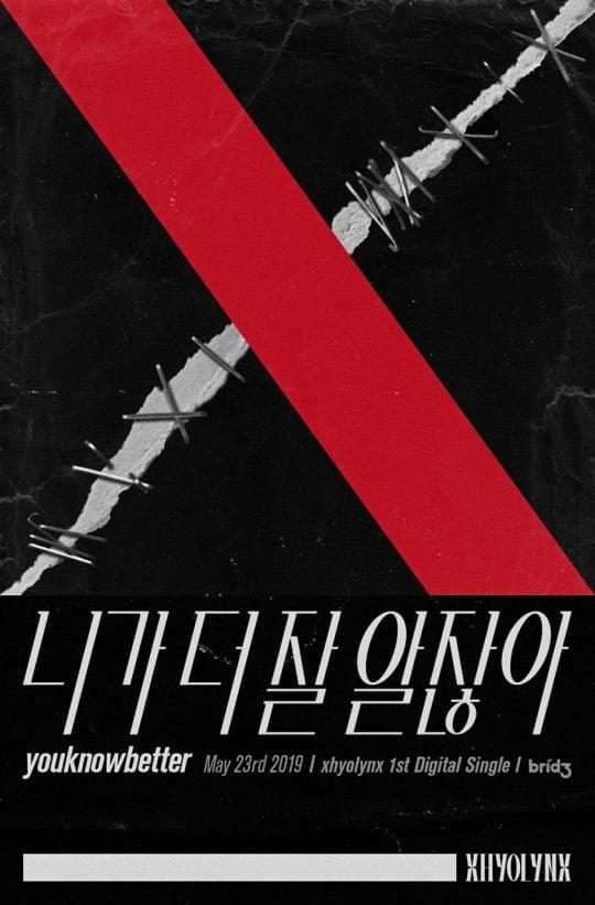 가수 효린 'xhyolynx' 프로젝트 싱글 '니가 더 잘 알잖아' 포스터 / 사진제공=브리지