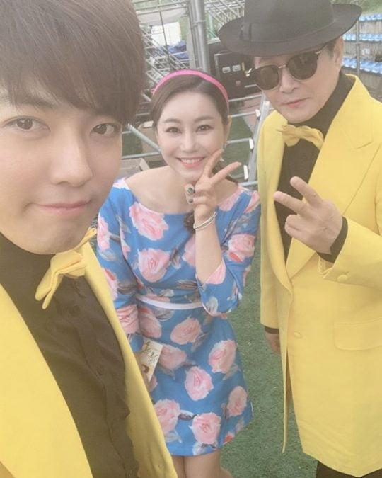 강남(왼쪽부터), 김양, 태진아./ 사진=김양 인스타그램