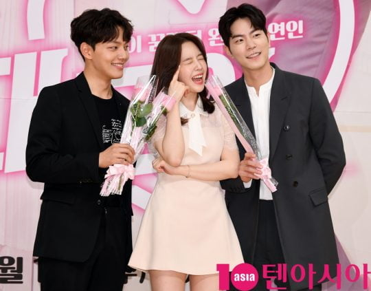 배우 여진구,방민아,홍종현(왼쪽부터)이 15일 오후 서울 양천구 목동 SBS 사옥에서 열린 SBS 새 수목드라마 '절대그이' 제작발표회에 참석하고 있다.