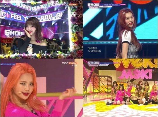 15일 방영된 MBC뮤직 '쇼!챔피언' 방송화면.