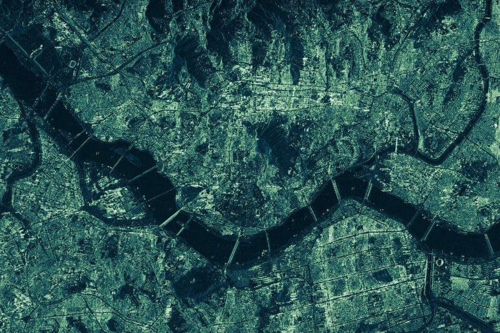 아이스아이-엑스2 인공위성이 촬영한 서울.[사진=아이스아이]