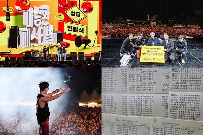 '기부천사' 이승환, '차카게 살자' 공연 기부금 19년간 10억원 넘어