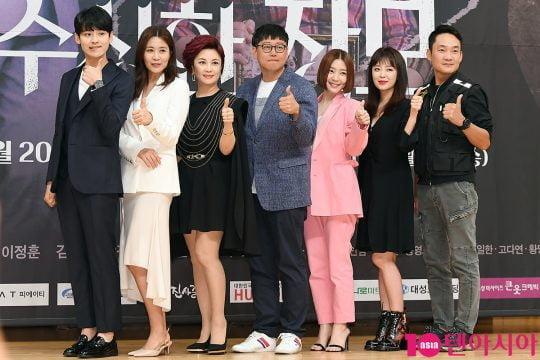 배우 박진우(왼쪽부터), 양정아, 김혜선, 이정훈 PD, 신다은, 안연홍, 김정현