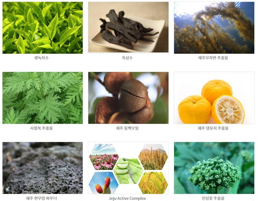 화장품 소재 주요 제품
