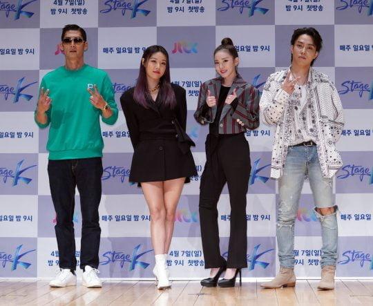 가수 박준형(왼쪽부터), 유빈, 산다라박, 은지원. / 제공=JTBC '스테이지K'