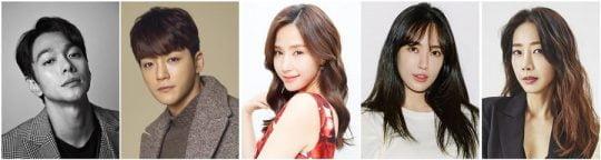 이규한(왼쪽부터), 김진우, 공현주, 김윤서, 오승은/사진제공=각 소속사