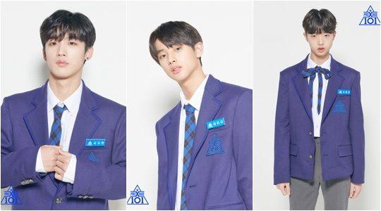 Mnet 아이돌 서바이벌 '프로듀스X101'에 출연하는 김요한(왼쪽부터), 김민규, 손동표./ 사진제공=Mnet