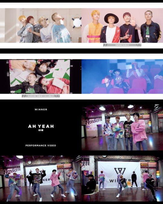 그룹 위너 '아예' 안무영상 및 뮤직비디오 메이킹 영상 / 사진제공=YG엔터테인먼트