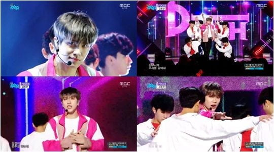 18일 방영된 MBC '쇼! 음악중심' 방송화면.