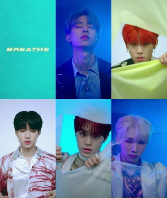 그룹 AB6IX(에이비식스)의 'BREATHE(브리드)' 뮤직비디오 티저 영상 캡처/사진제공=브랜뉴뮤직