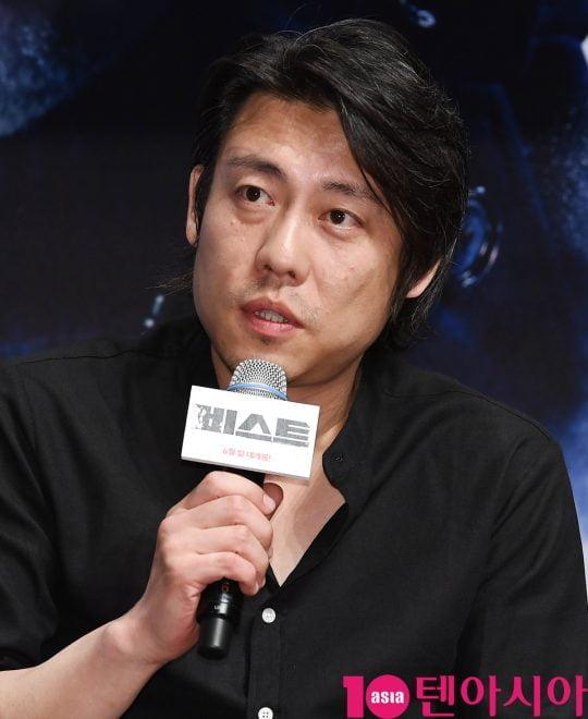 이정호 감독이 30일 오전 서울 신사동 압구정 CGV에서 열린 영화 '비스트' 제작보고회에 참석하고 있다.