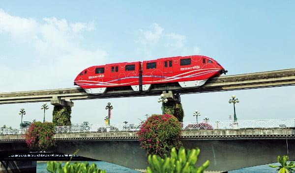 대구도시철도공사가 운영관리를 맡은 싱가포르 센토사섬의 모노레일.  /대구도시철도공사 제공