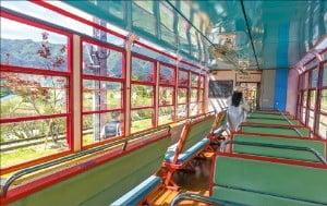 넓은 창이 펼쳐진 백두대간 협곡열차