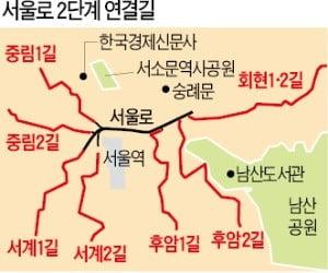 """[단독] 박원순 """"서울로 연결 7개 골목길 통합 재생…보행친화 도시 만들 것"""""""