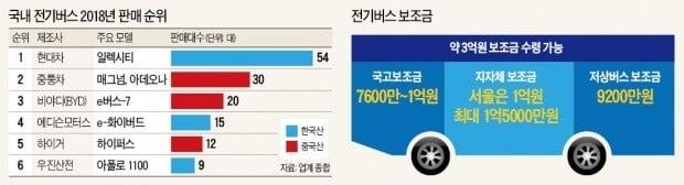 中 저가 전기버스 '놀이터' 된 한국