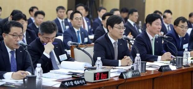 작년 말 국정감사장에 출석했던 공기업 최고경영자(CEO)들. /사진=연합뉴스