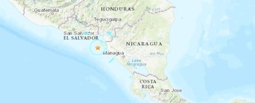 '불의고리' 니카라과서 규모 5.7 지진…엘살바도르 수도 '흔들'