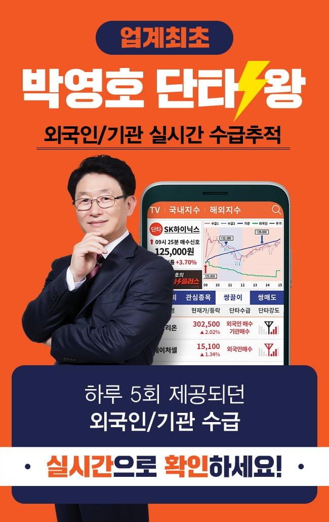 장중 외국인/기관 실시간 수급을 알 수 있다면?  박영호 단타왕 앱 출시!