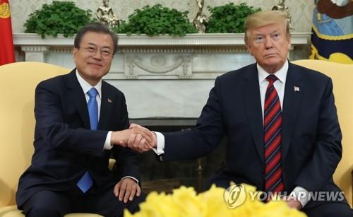 트럼프 내달 하순 방한…文대통령과 비핵화·한미동맹 강화 협의