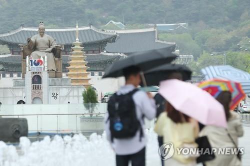 주말에 전국 곳곳 비…미세먼지 '좋음·보통'