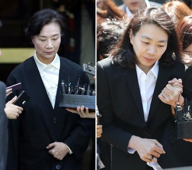 조현아(45·오른쪽) 전 대한항공 부사장과 모친 이명희(70·왼쪽) 일우재단 이사장. 사진=연합뉴스