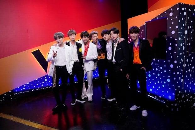 미 오디션 프로그램 '더 보이스' 장식한 BTS (사진=연합뉴스)