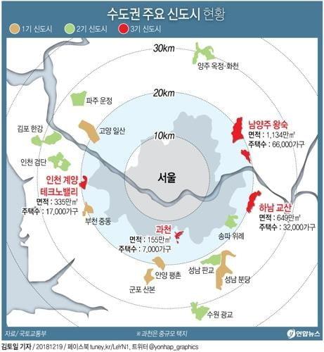 정부, 11만가구 '3기 신도시' 추가 건설계획 내일 발표