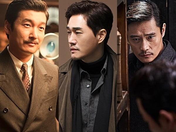 영화 '암살', MBC 토요드라마 '이몽', 영화 '밀정' 속 김원봉/사진=영화, 드라마 스틸