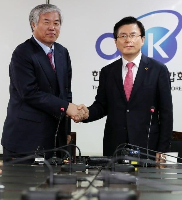 전광훈 목사와 황교안 자유한국당 대표/사진=연합뉴스