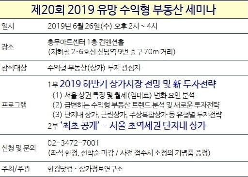[한경부동산] 상가 투자 여기 어때요?···26일 수익형 부동산 세미나 개최