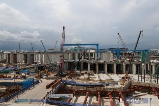 GS건설이 시공중인 싱가포르 T301 현장(자료 GS건설)