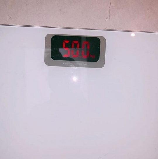 선미 몸무게 인증/사진=선미 인스타그램