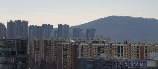 서울 대치동 선경아파트. 뒤편으로 개포동 재건축 단지들이 보인다. 전형진 기자