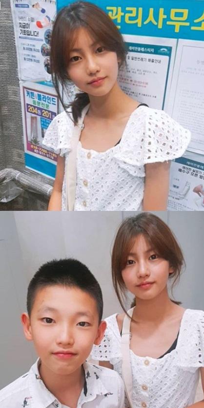 송지아, 송지욱 /사진=박잎선 인스타그램