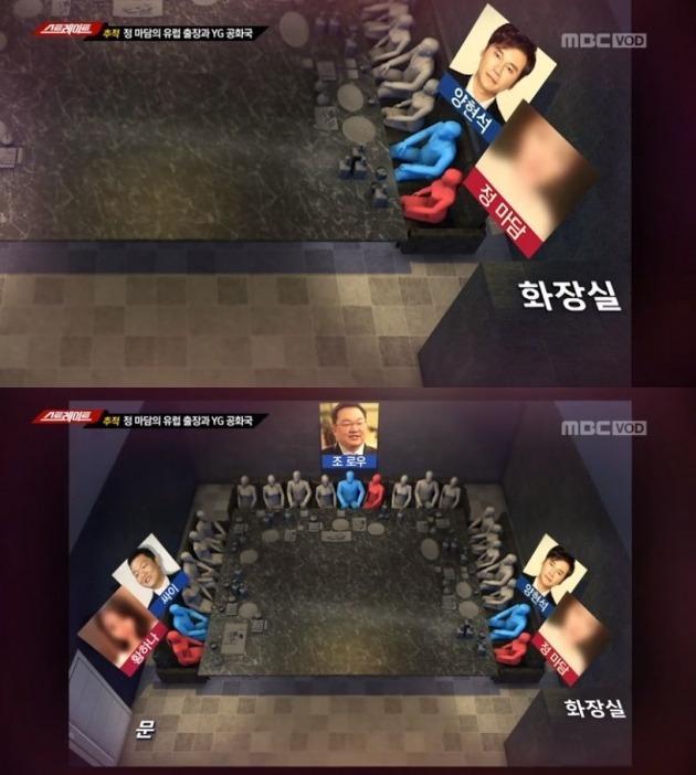 MBC '스트레이트'서 밝힌 YG 성접대 의혹 /사진=MBC 방송화면 캡처