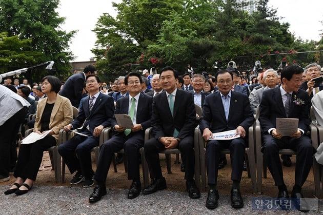 [포토] 6.10민주항쟁 기념식 참석한 여·야당 대표