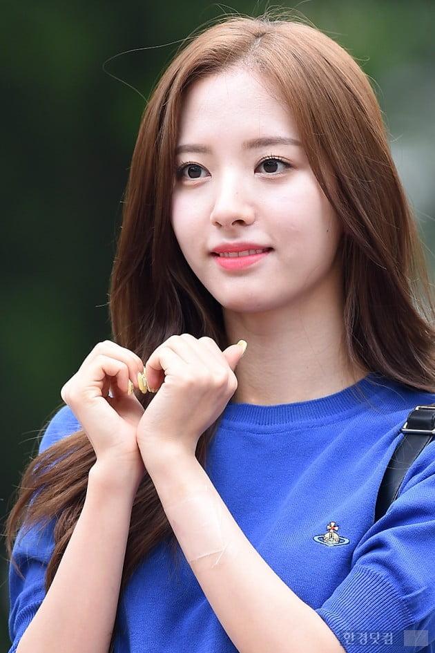 [포토] 우주소녀 보나, '예쁘게 하트~'