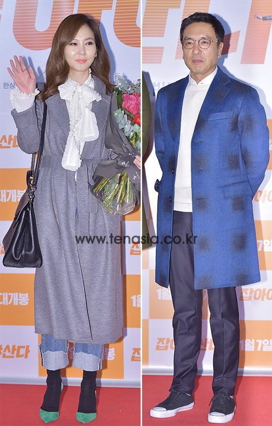 배우 김남주(왼쪽), 김승우. / 텐아시아DB